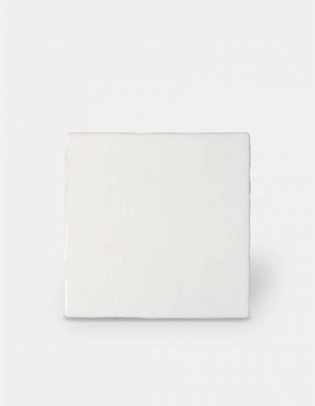 Faience Craquelee Blanc Pur Style Artisanal 10x10cm Pr0809019