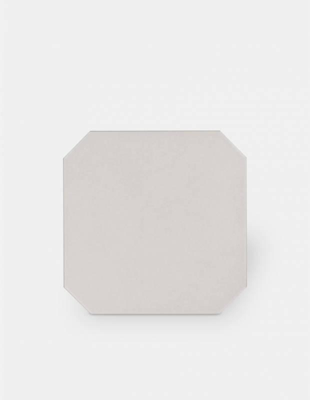Fliese achteckig gebrochenes Weiß 20 × 20 cm - VO0606008