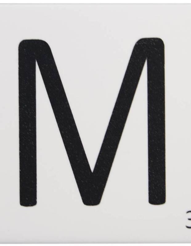 Scrabble-Fliese Buchstabe M 10 × 10 cm - LE0804013