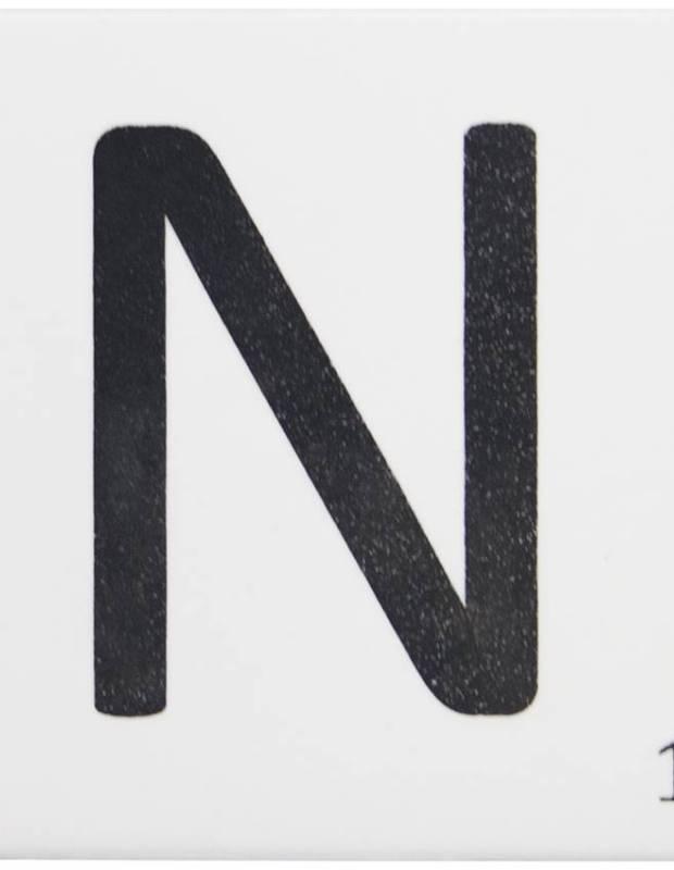 Scrabble-Fliese Buchstabe N 10 × 10 cm - LE0804014