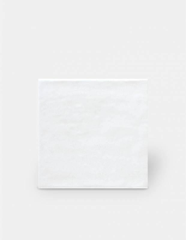 Wandfliese weiß handgearbeiteter Stil 15 × 15 cm - TR3504001