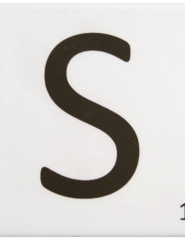 Scrabble-Fliese Buchstabe S 10 × 10 cm - LE0804019