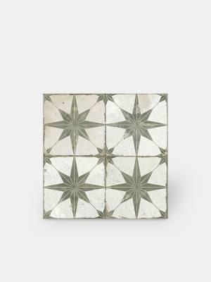 Bodenfliese antiker Stil - 45 × 45 cm - mit kakifarbenem Muster - FS1132002