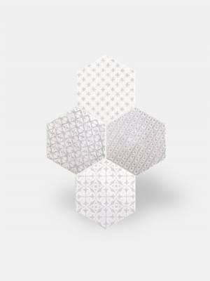 Fliese sechseckig matt grau 15 × 15 cm - HE0811012