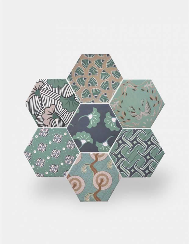 Sechseckige Fliese, die Tomette aus Steinzeug Good Vibes - GO0812014