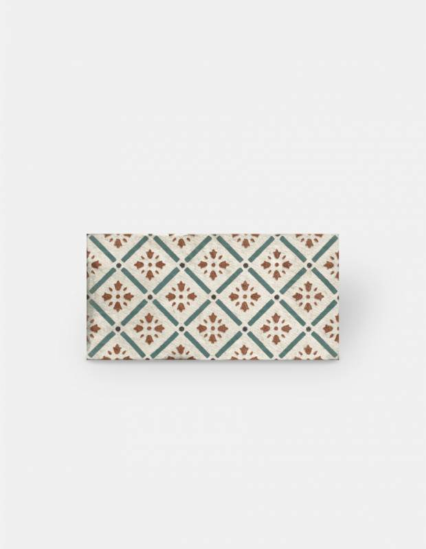 Collection Saboay Carrelage Retro Chic Motifs Vert Rouge