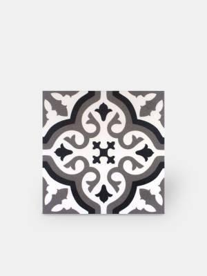 Zementfliesen-Imitat Boden und Wand weiß 20 × 20 cm - FL0115002