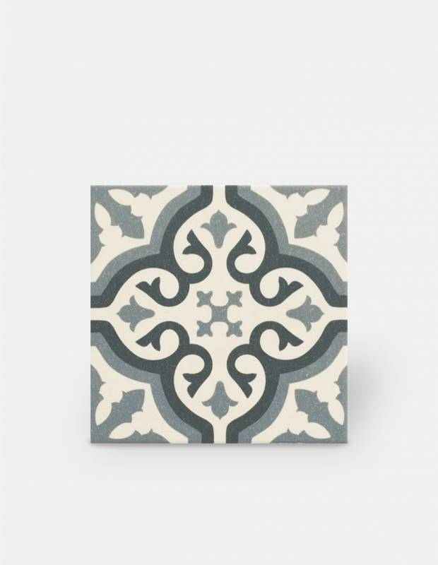 Zementfliesen-Imitat Boden und Wand blau 20 × 20 cm - FL0115007
