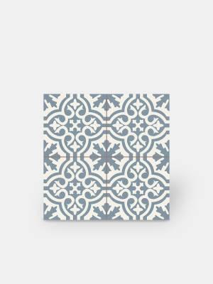 Fliese Imitat neuer Zementfliesen - blau und weiß - TI1138001