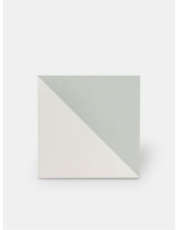 Carrelage grès cérame 25 x 25 cm ancien gris et blanc - DO1713005