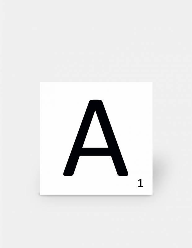 Scrabble-Fliese Buchstabe A 10 × 10 cm - LE0804001