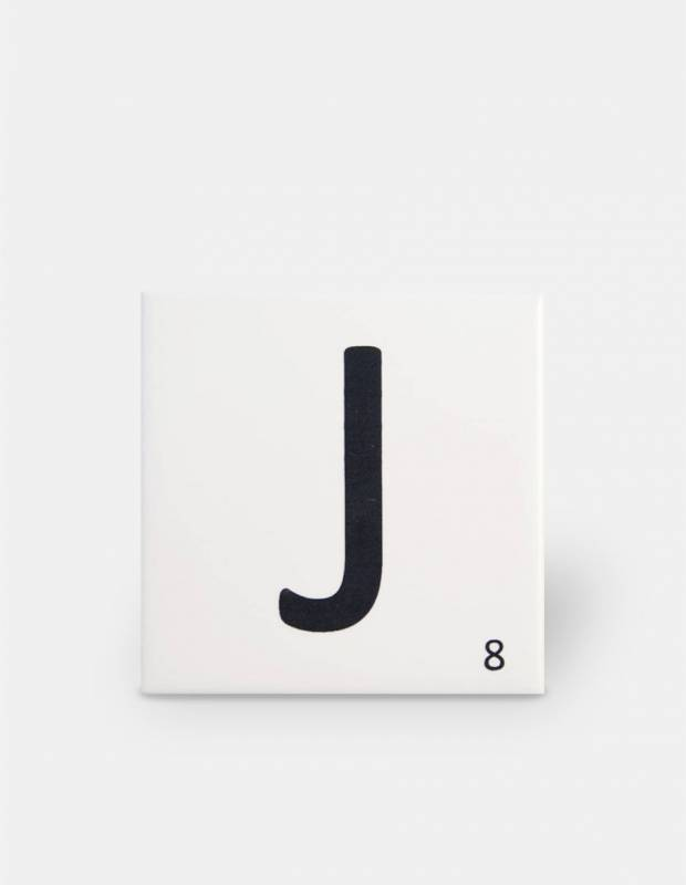 Scrabble-Fliese Buchstabe J 10 × 10 cm - LE0804010