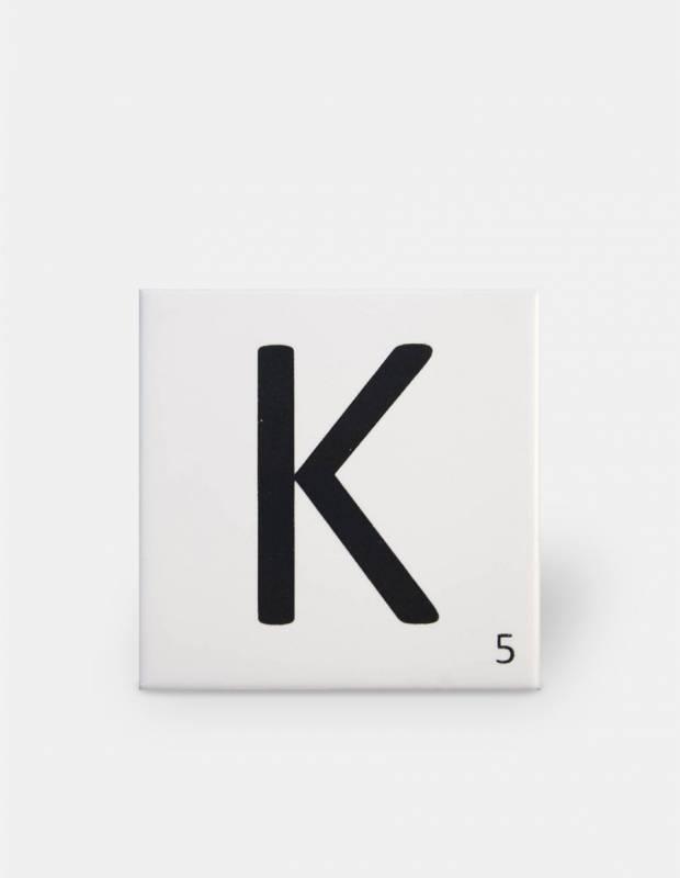 Carrelage scrabble lettre K 10 x 10 cm - LE0804011