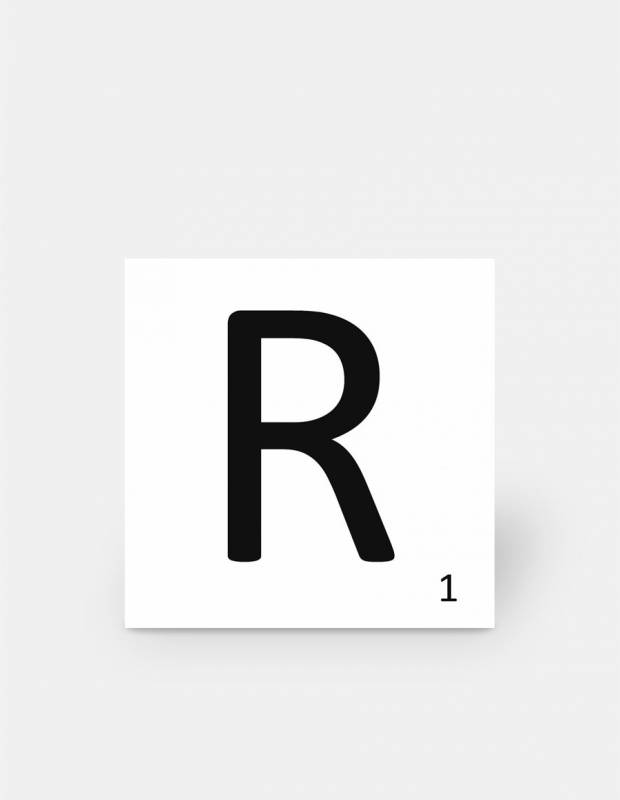 Carrelage scrabble lettre R 10 x 10 cm - LE0804018
