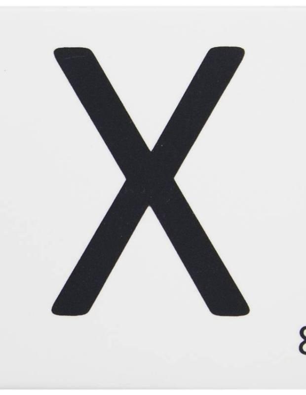 Scrabble-Fliese Buchstabe X 10 × 10 cm - LE0804024