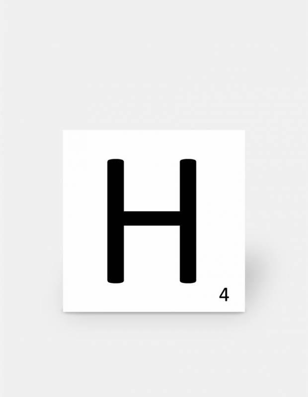 Carrelage scrabble lettre H 10 x 10 cm - LE0804008