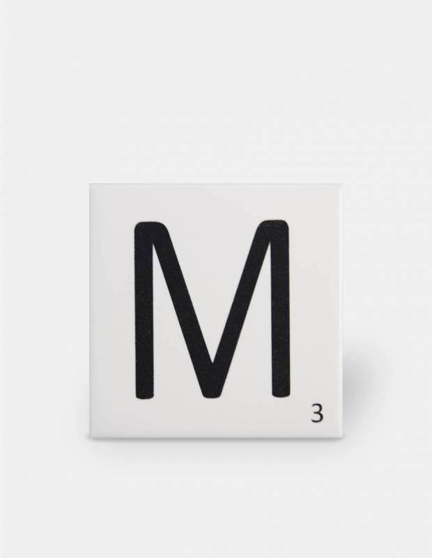 Carrelage scrabble lettre M 10 x 10 cm - LE0804013