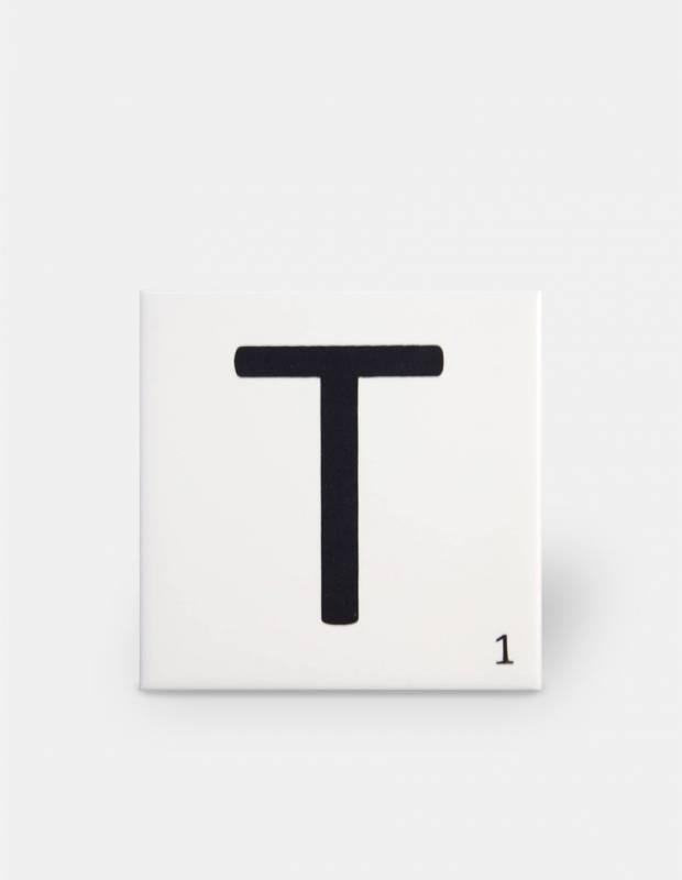 Scrabble-Fliese Buchstabe T 10 × 10 cm - LE0804020