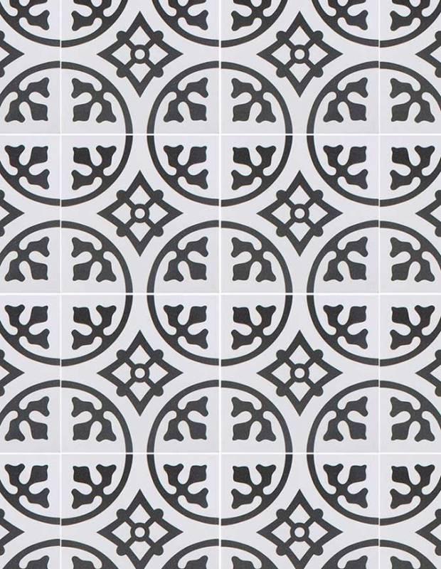 Carrelage imitation carreau ciment blanc 20 x 20 cm - BU0116001