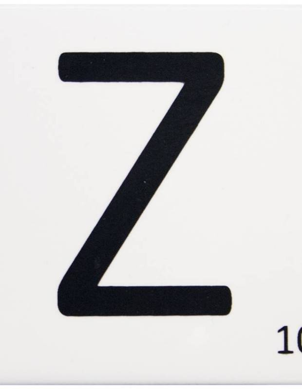Carrelage scrabble lettre Z 10 x 10 cm - LE0804026