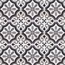Carrelage imitation carreau ciment sol et mur blanc 20 x 20 cm - FL0115002