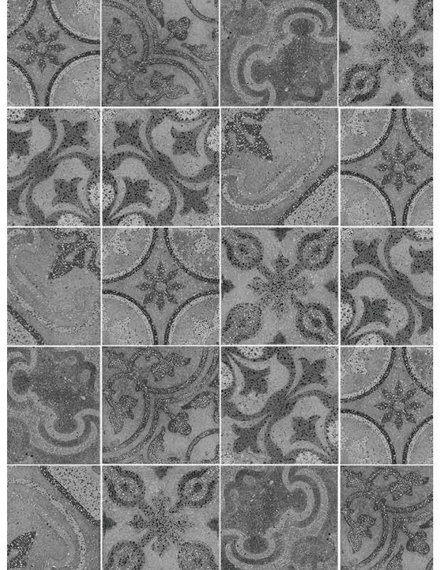 Carrelage Sol Et Murs 25 X 25 Cm Gris Style Terrazzo Pa1715001