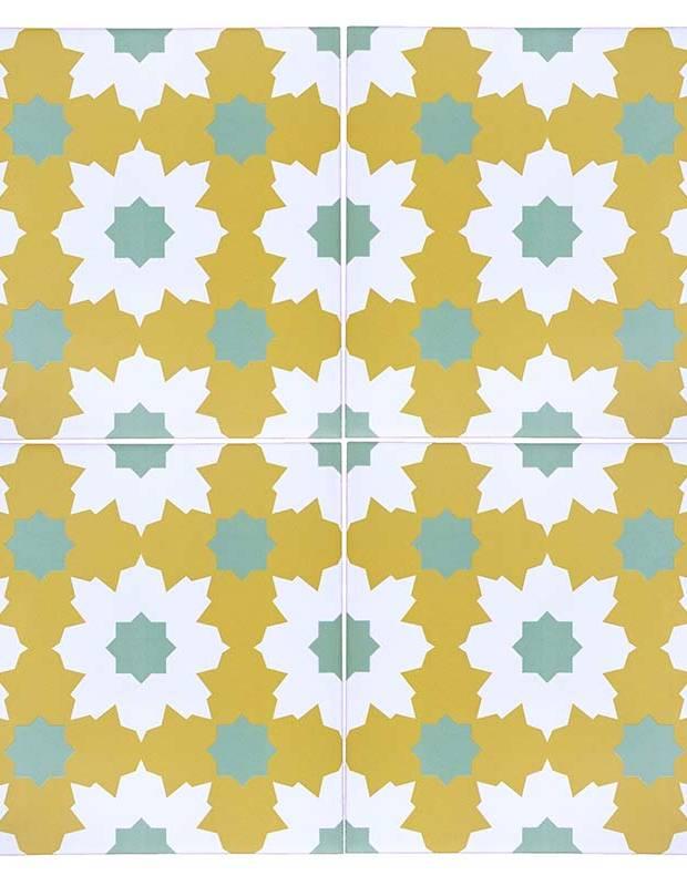 Andalusische Fliesen sun green 20 × 20