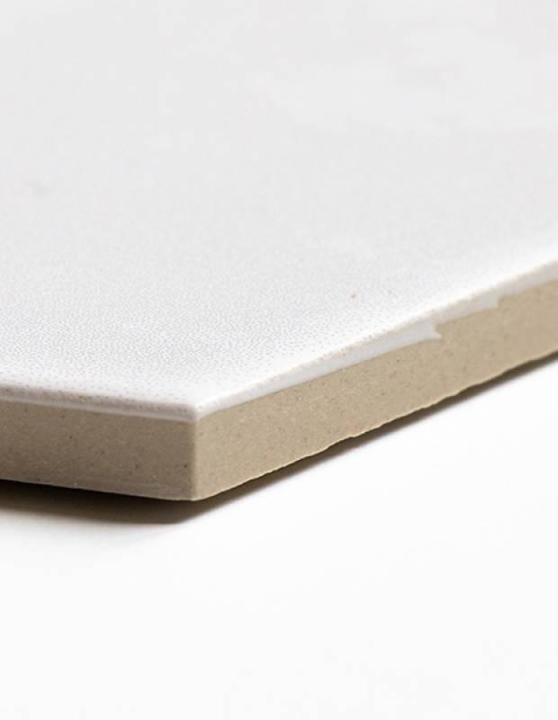 Distel einfarbig white chalk