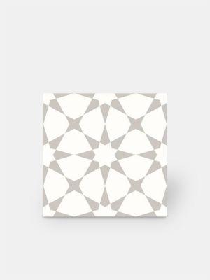 Carrelage grès cérame 25 x 25 cm ancien à motifs géométriques noirs et blancs - DO1713010