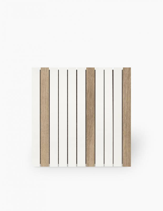 Carrelage sur trame blanc mat et effet bois - NO20010032