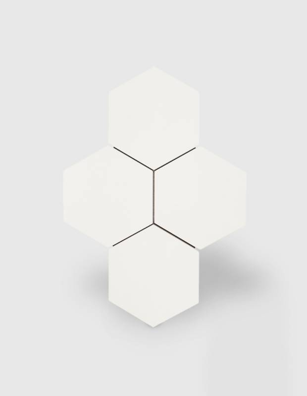 Carrelage hexagonal blanc mat - NO20010034