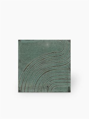 Carrelage Wabi-sabi vert 15x15 cm - NO20010218