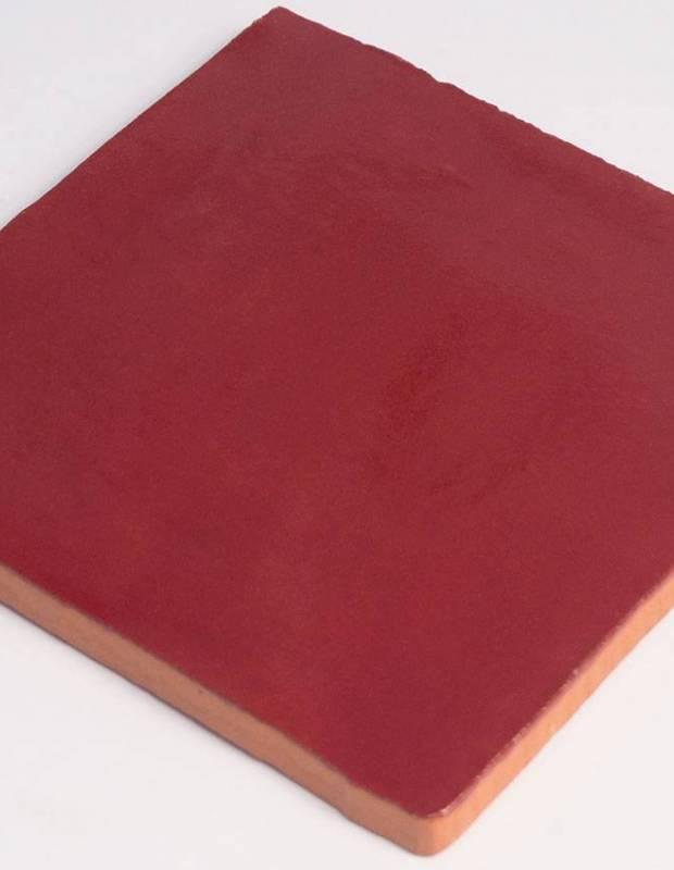 Carrelage mural ancien brillant rouge 10 x 10 cm - PR0809030