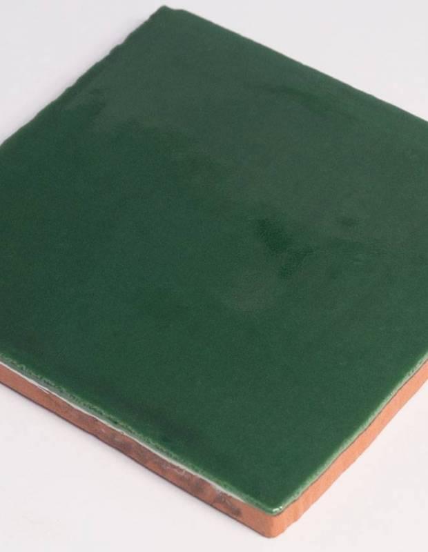 Wandfliese antik glänzend grün 10 × 10 cm - PR0809026