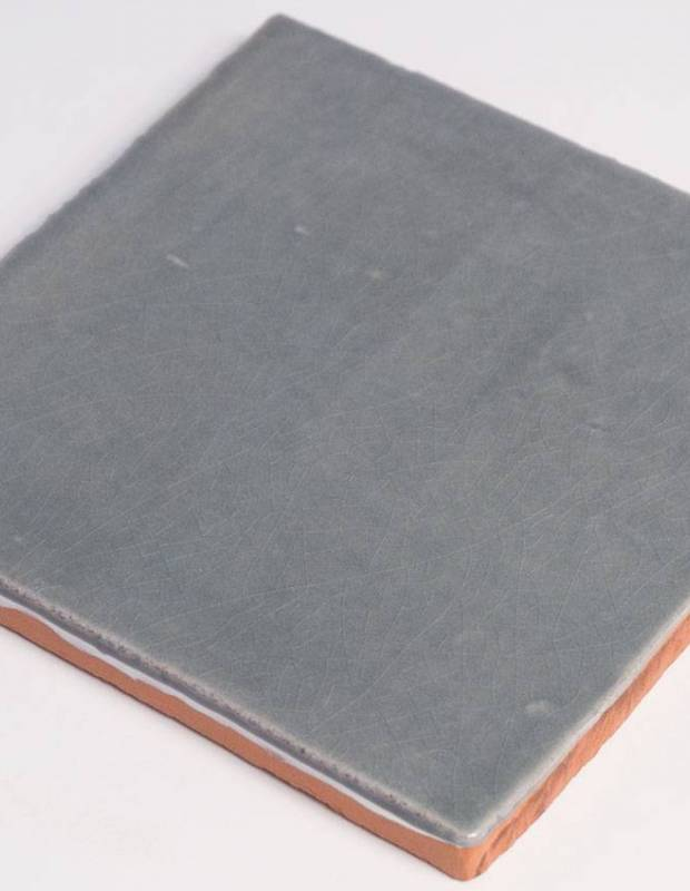 Wandfliese antik glänzend grau 10 × 10 cm - PR0809032