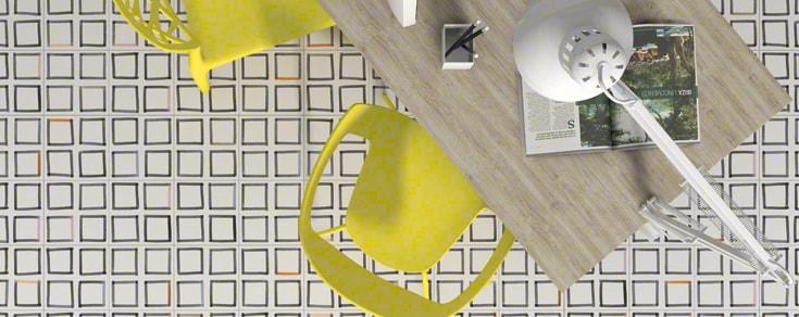 Série Bobele, un carrelage carreaux ciment au format 20x20 pour sol et mur en grès cérame