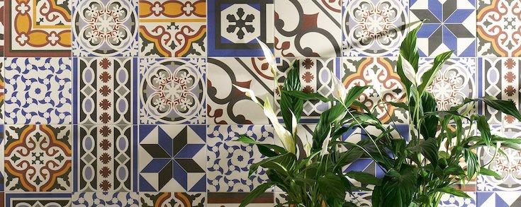 Série Viany, le carrelage imitation carreaux de ciment pour sol et mur au format 20x20 cm.