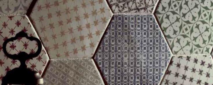 Série hexagon, un carrelage hexagonal au format 15x15 cm